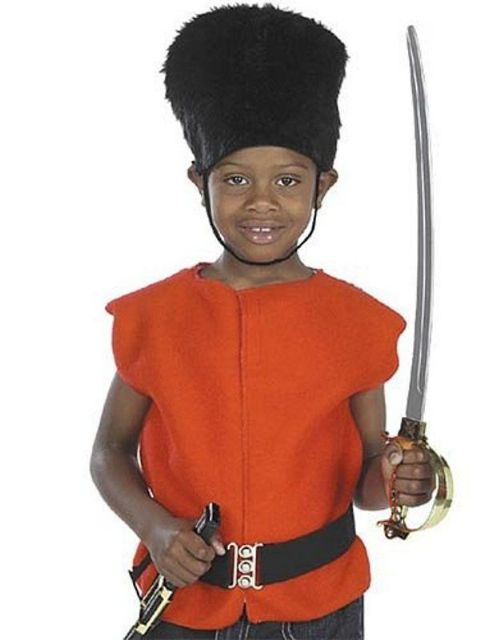 Boys Royal Guard Tabard, Bearskin Hat and Belt (Age 6 - 9)